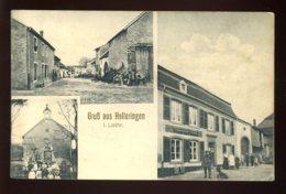 57 - HELLERINGEN - HELLERING - COLONIAL WARENHANDLUNG FRIEDRICH FILLIUNG - RUE - EGLISE - CARTE 3 VUES - Autres Communes