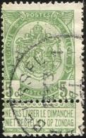 """COB   56 B (o) Oblitération """"Bruxelles 1"""" T4R - 1893-1907 Wappen"""