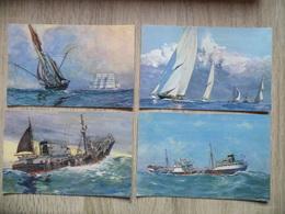 Lot De 7 Cartes Postales De Bateaux De Croisière Et Commerce - Commerce