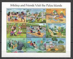 Disney Palau 1994 Mickey And Friends Visit The Palau Islands Sheetlet MNH - Disney