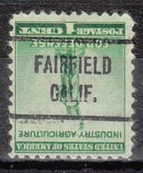 USA Precancel Vorausentwertung Preo, Locals California, Fairfield 721 - Préoblitérés