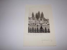 Tournai.2 Photos De Jules Messiaen Sur Carte Double. - Tournai