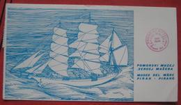 """Piran / Pirano: Pomorski Muzej - Museo Del Mare: Künstlerkarte Bark """"Laibach"""" (ca. 8 X 14,5 Cm) - Slovénie"""