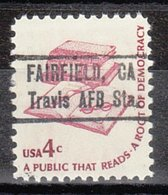 USA Precancel Vorausentwertung Preo, Locals California, Fairfield Travis AFB Station 835,5 - Préoblitérés