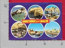 CARTOLINA VG MALTA - Saluti Da Malta - Vedutine Multivue - 10 X 15 - ANN. 2000 - Malta