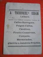 """Paper.EXPOSITION DE Paris 1900..La Village Suisse-A.Tschinkel""""s Eidam,Laibach/Ljubljana.Caffee-Surrogate,Compote,Candite - Other Collections"""