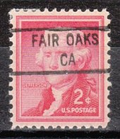USA Precancel Vorausentwertung Preo, Locals California, Fair Oaks 841 - Préoblitérés