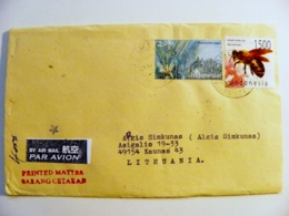Cover Sent From Indonesia Animal Insect Bee Plants - Indonesia