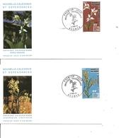 Orchidées ( 2 FDC De Nouvelle-Calédonie De 1977 à Voir) - Orchidées