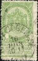 """COB   56 B (o) Oblitération """"Rhode-St-Genèse"""" T1L - 1893-1907 Wappen"""