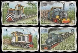 Fidschi 1999 - Mi-Nr. 894-897 ** - MNH - Eisenbahn / Train - Fidji (1970-...)