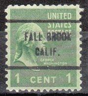 USA Precancel Vorausentwertung Preo, Locals California, Fall Brook 713 - Vorausentwertungen