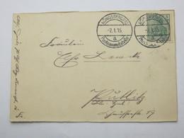 1915 , KÖNIGSBERG Postsammelstelle,  Klarer Stempel Auf   Karte - Deutschland