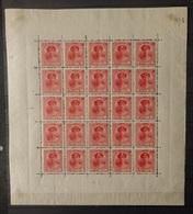 Luxemburg 1921  Nr. 121  In Vel Van 25 Stuks   Spoor Van Scharnier *  In Velrand / Zegels Postfris ** - 1921-27 Charlotte Front Side