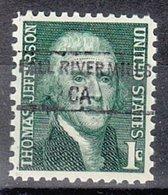 USA Precancel Vorausentwertung Preo, Locals California, Fall River Mills 845 - Préoblitérés