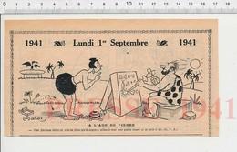 Humour De 1941 âge Pierre Tailleur Graveur Sur Hiéroglyphes Dolmen Boite Sardines Tortue Animal Préhistorique 223XR - Vieux Papiers