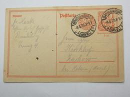 1922  , BRANDENBURG,  Klarer Stempel Auf   Karte - Germany