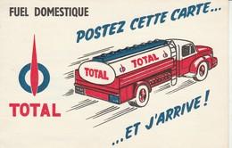 Publicité : Carte-réponse : TOTAL - Fuel Domestique : Camion Citerne ( Die - Drome ) - Publicité