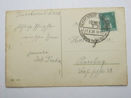 1929 , SCHAFSTEDT  -  Kuh,  Klarer Stempel Auf   Karte - Briefe U. Dokumente