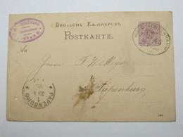 1888 , HUDE - NORDENHAMM   , Bahnpost ,  Klarer Stempel Auf   Karte , Altersspuren - Deutschland