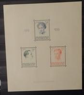 Luxemburg 1939   BLOK  3   Licht Spoor Van Scharnier *   CW 65,00 - Blocks & Sheetlets & Panes