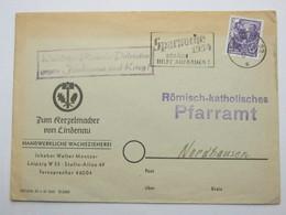1954 , Block Der Patrioten , Propagandastempel,  Klarer Stempel Auf   Brief Aus Leipzig - Briefe U. Dokumente