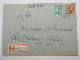1947  , Timmendorfer Strand ,  Klarer Stempel Auf   Brief , Einschreiben - Gemeinschaftsausgaben