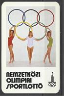 Hungary,  Olympic (Moscow) Lottery Ad,  1979. - Calendriers