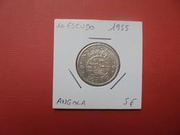 ANGOLA (PORTUGUAIS) 10 ESCUDOS ARGENT 1955 (A.2) - Angola