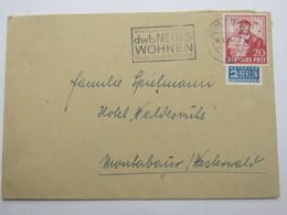 1949 , KÖLN  -  Werkbundausstellung  , Glasklarer Maschinenstempel  Auf   Brief, Recht Selten - Bizone
