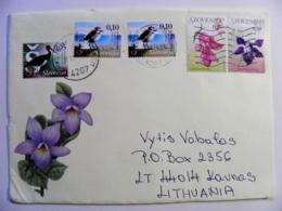 Cover Sent From Slovenia 2017 Animals Oiseaux Birds Stork Flora Flowers - Slovénie