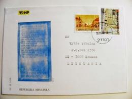 Cover Sent From Croatia 2001 Ship Bjelovar - Croatia