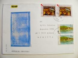 Cover Sent From Croatia 2001 Christmas Noel - Croatia