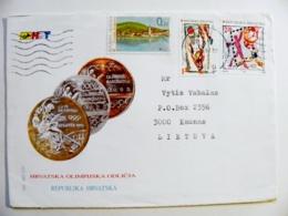 Cover Sent From Croatia 1997 Sport Basketball Handball Olympic Games Medals Barcelona Atlanta - Croatia