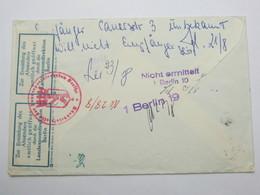 1963 , BERLIN - Postverschlussvignette Rs. Auf Brief Aus Raisdorf , Mit Suchstempel - Berlin (West)