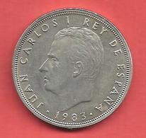 50 Pesetas , ESPAGNE , Cupro-Nickel , 1983 ( M ) , N° KM # 825 , N° Y130a - 50 Pesetas