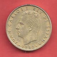 100 Pesetas , ESPAGNE , Alu-Bronze , 1982 , N° KM # 826 , N° Y139 - [ 5] 1949-… : Royaume
