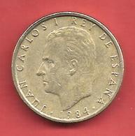 100 Pesetas , ESPAGNE , Alu-Bronze , 1984 , N° KM # 826 , N° Y139 - [ 5] 1949-… : Kingdom