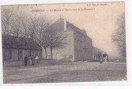 CPA 71 @ DEMIGNY - La Mairie Et Restaurant De La Chaumière En 1907 - Carte Un Peu Souple - Autres Communes