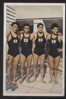 WW II Franck Sammelbild 10,5 X 7 Cm , Olympiade 1936 Berlin, S.22 Bild 1 : Sport , Schwimmen 4 X 200 M Freistil, Siege - Jeux Olympiques