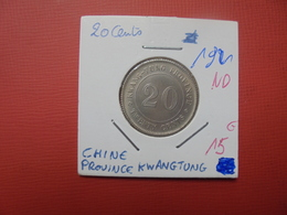 CHINE (KWANTUNG) 20 CENTS NON-DATE (1921) (A.2) - Chine
