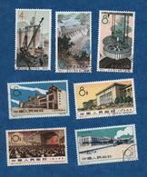 CHINE - 1960-1964 -Oblitérés- 7 Valeurs ( Monuments  Usines )  - Cat. Yvert N° 1313/14-1322/23-1590/92   -  Oblitérs - 1949 - ... République Populaire