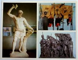 #11  Battle Of Borodino - War, Militaria, Fine Art Picture, Museum Exhibits - Big Size Postcard 1975 - Museum