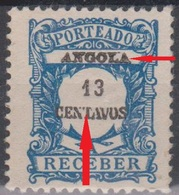 Angola Portomarken P28 13 C Ungebraucht, Druckausfälle (Variety) - Angola