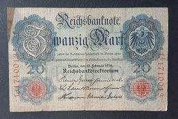 EBN5 - Germany 1906 Banknote 20 Mark Pick 25b #L.1710013 - [ 2] 1871-1918 : Duitse Rijk