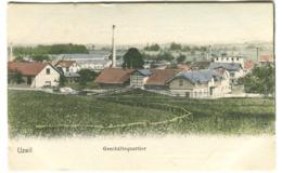 AK Uzwil Farbig Geschäftsqiuartier Um 1907 - SG St. Gallen
