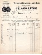 TISSAGE MECANIQUE (Halluin Nord).CH.LEMAITRE.-LILLE 1899 - Textilos & Vestidos