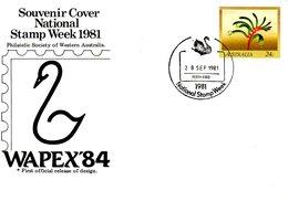 AUSTRALIE. Entier Postal Avec Oblitération De 1981. Cygne. - Cygnes