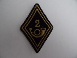 ECUSSON MILITAIRE En Tissu 2ème Bataillon De Chasseur Régiment Militaria - Ecussons Tissu