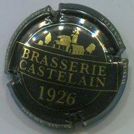CJ-CAPSULE-BIERE-FRA-BRASSERIE CASTELAIN Quart Noir & Or Rectangle Fermé - Bier